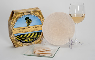 Sacramento Cookie Factory Lemon Vanilla California Wine Wafer