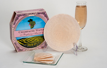 Sacramento Cookie Factory  Raspberry Almond Champagne Wafer